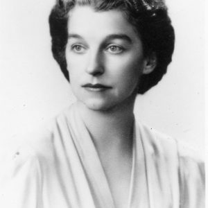 A portrait of Henry Segerstrom's mother, Nellie Ruth Segerstrom.