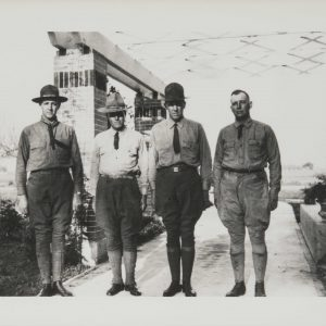 Henry Segerstrom's father Anton and his brothers in 1917.