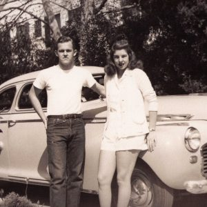 Henry Segerstrom and his sister Ruth Ann Segerstrom posing as teenagers.