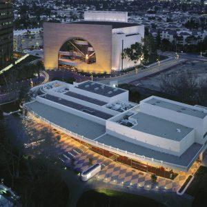 An aerial view of South Coast Repertory's Folino Theatre Center