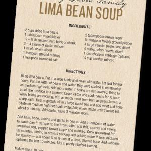 Lima Bean Recipe